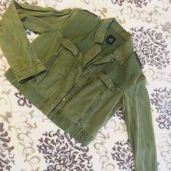 Green jacket khaki