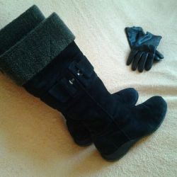 Boots suede winter