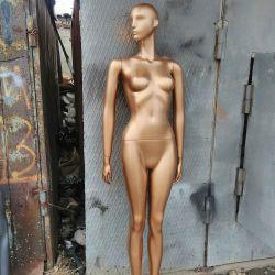 Женские интерьерные манекены. Цвет золото.