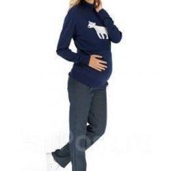 Trousers denim warmed for pregnant women