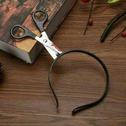 Bezel Halloween photo shoot scissors