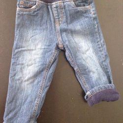 Jeans on fleece 86 cm Mazeka