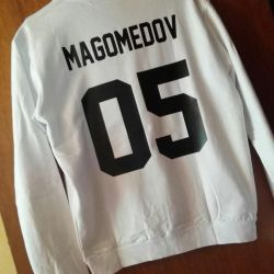 Men's sweatshirt with the name and number