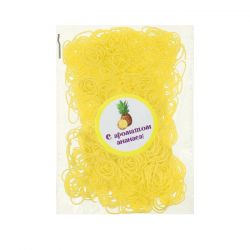 A set of elastic bands for hair, 200 pcs., Pineapple flavor.