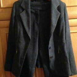 Suit (sacou, fustă și pantaloni) nou, r. 40/42