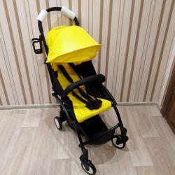 Νέο μωρό καροτσάκι χρώμα κίτρινο