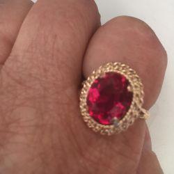 Inel aur 583 standart cu rubin