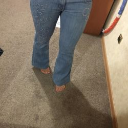 Jeans flared blue