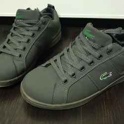 Pantofi de iarna calde de iarna Lacoste adolescenti