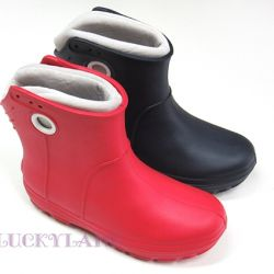 new rubber ankle boots red 36/37 size
