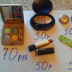 Καλλυντικά Oriflame, βούρτσα, κοκκινίλα, κραγιόν, σκιά ματιών
