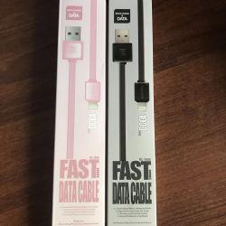 Usb cable on iphone, ipad