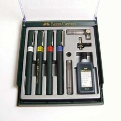 Rapidographs FABER-CASTELL TG1-S with accessories