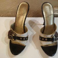 Sandalet 38 boy doğal