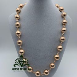 beads from gold nuts 60cm