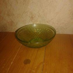 Glass salad bowl, 1970-80e.