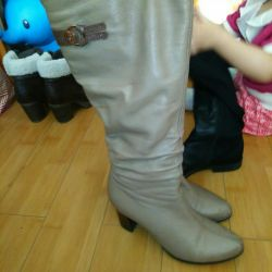 Boots demi. Nat. Leather 38R.