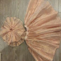 Elegant set fluffy skirt + sleeves 4-5 l