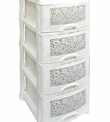 Chest 4 tiers white marble