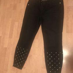 Bonprix breeches black with beads 52-54 size
