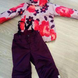 Χειμερινό κοστούμι κορίτσι Rr 98 (+6)