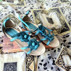 Sandals, 40р eco leather, not used