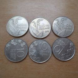 Coin 10 πένα 1984-92 - Φινλανδία