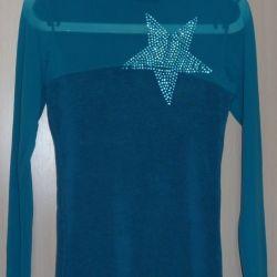 Пуловер бирюзовый, Турция, р-44(46)