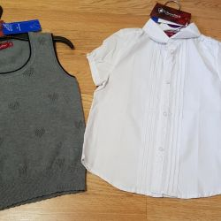 Blouse and vest new to school