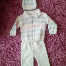 Warm three piece suit
