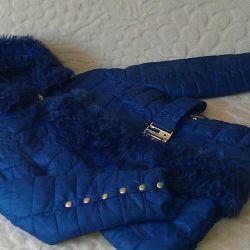 Jachetă caldă cu blană naturală