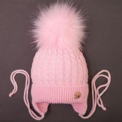 Şapka, yeni, kış, açık pembe