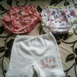 Panties for diapers for girls
