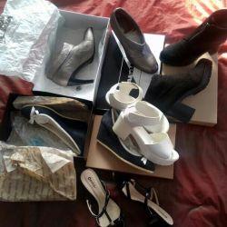 Παπούτσια, μπότες αστράγαλο, σανδάλια р.38 38,5