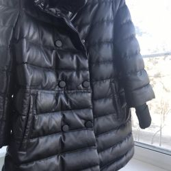 Leather jacket for down winter New
