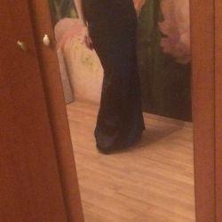 Evening satin dress