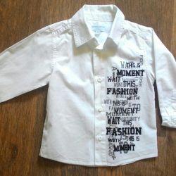 White shirt on 86