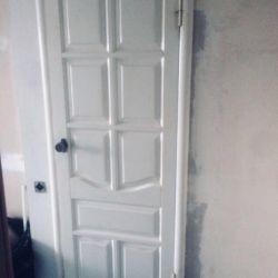 Door interroom Wooden - canvas