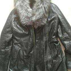 Jachetă din piele.