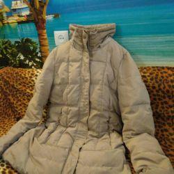 Тeплый пуховик с капюшоном 44-46 размер