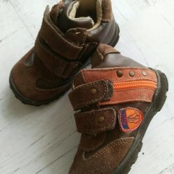 Leather boots, size 21