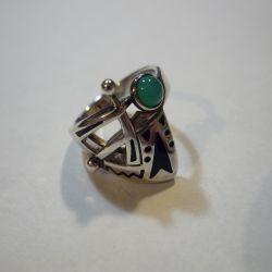 Silver ring 17.5 r