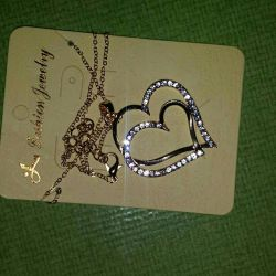 Pendant two hearts on a chain