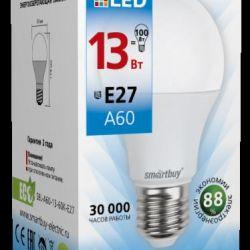 Λυχνία LED Smartbuy-A60-13W6000E27 (ζεστό λευκό)