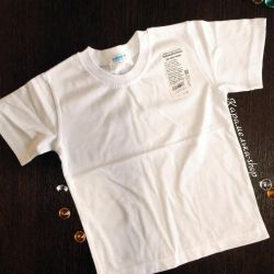 New white t-shirts from 98 to 134