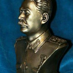 Bustul de tencuială al lui Stalin, colorat