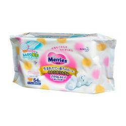 Merries wet wipes 54 pcs