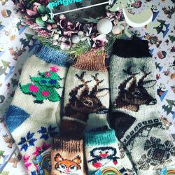 Yeni yıl çorapları Yeni Yıl için çorap.