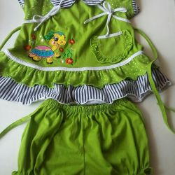 Costum de vară pentru fată