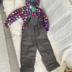 New Children's overalls and jacket, 116 size